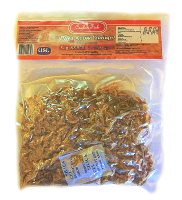 Ceylon Fish Dried Shrimps (Kooni) / කූනිස්සෝ 100g
