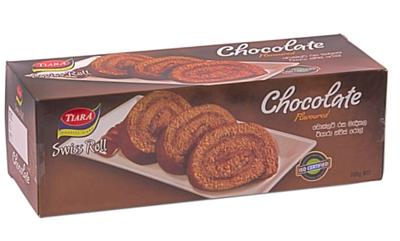 Munchee Tiara Chocolate Flavoured Swiss Roll, 200g