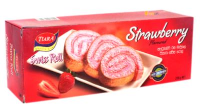Munchee Tiara Strawberry Flavoured Swiss Roll, 200g