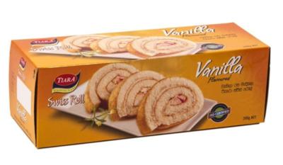 Munchee Tiara Vanilla Flavoured Swiss Roll, 200g