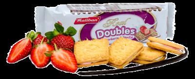Maliban Doubles Strawberry & Vanilla Cream Biscuits, 110g