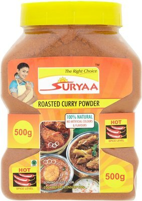 Suryaa Roasted Curry Powder - Hot, 500g