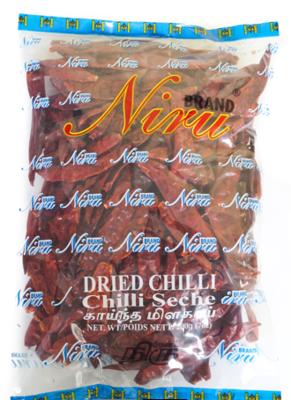 Niru Whole Dried Red Chillies / වේලූ රතු මිරිස්, 100g
