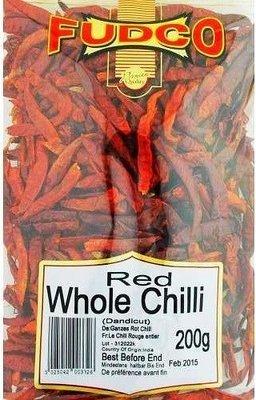 Fudco Whole Dried Red Chillies / වේලූ රතු මිරිස්, 200g