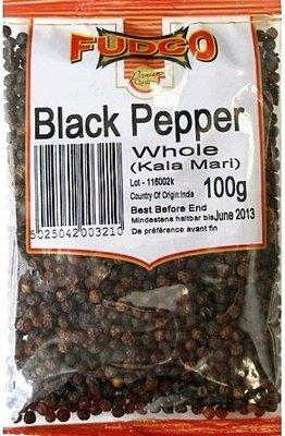 Fudco Whole Black Pepper / කළු ගම්මිරිස් ඇට, 100g
