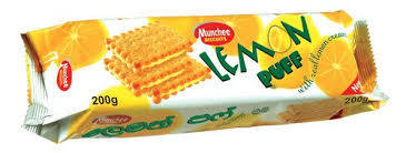 Munchee Lemon Puff Biscuits, 200g - Buy 2 for £1.20