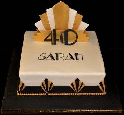 Art Deco themed cake