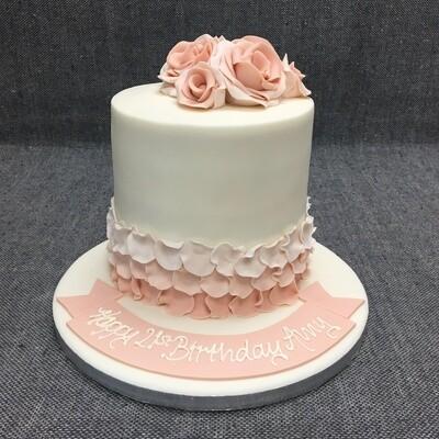 Tall Rose Petal Cake