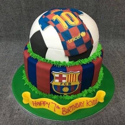 Football Half on Round cake
