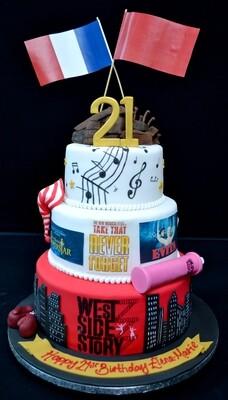 Musical themed cake