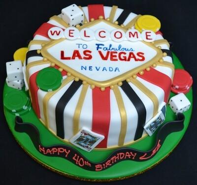 Vegas Themed Cake