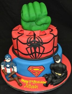 Superhero duo with Batman and Captain America
