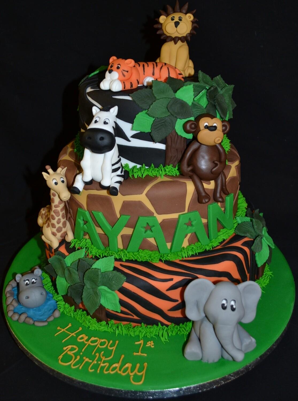 Build your own Wild Animals cake
