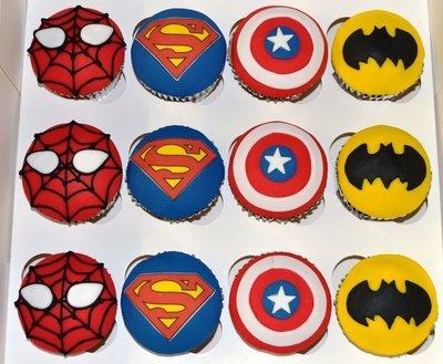 Superhero Character Cupcakes x 12