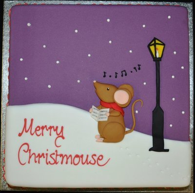 Square with Carol Singing Mouse Scene