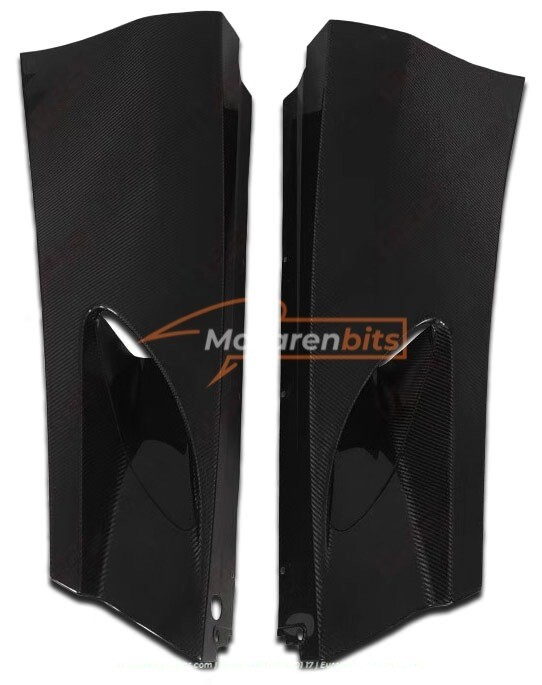 Rear lower intake panels