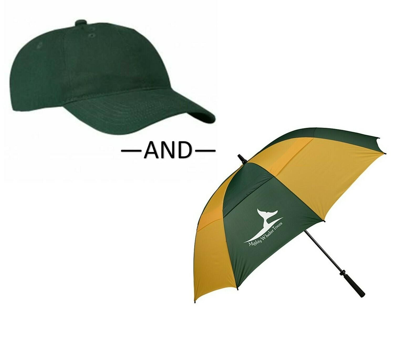 Baseball Cap & Umbrella Bundle