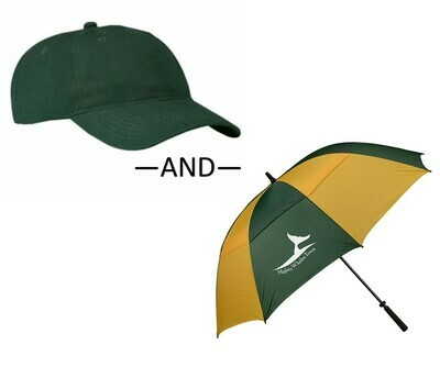Baseball Cap & Umbrella Bundle