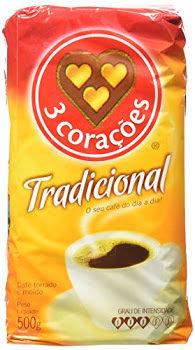 3 Coracoes Brazilian Coffee Tradicional medium roast 17.6 ounce 500g