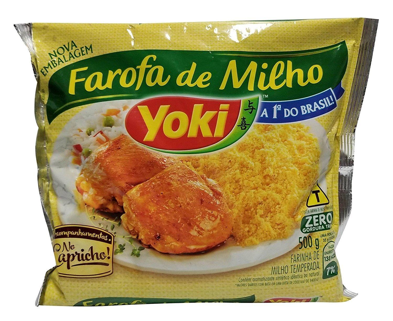 Yoki, Farofa Seasoned Corn Flour, 17.63 Ounc