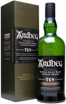 Ardbeg Scotch 10 Year Old Single Malt  86 proof 750ml