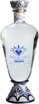 Amor Mio Tequila Blanco Ultra Premium 100 Agave Blown Glass