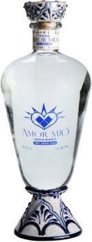 Amor Mio Tequila Blanco Ultra Premium 100 Agave Blown Glass