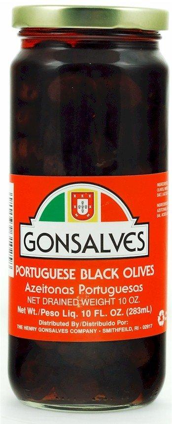 Gonsalves Portuguese Black Olives - 10oz