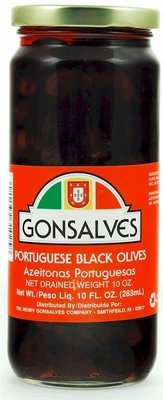 Gonsalves Portuguese Black Olives - 10oz