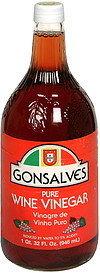Pure red Wine Vinegar -Gonsalves 750ml