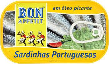 Bon Appetit Portuguese Sardines - Spicy Chili Oil, 120g