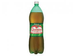 Guarana Antarctica Brazilian soda 2 liter bottle