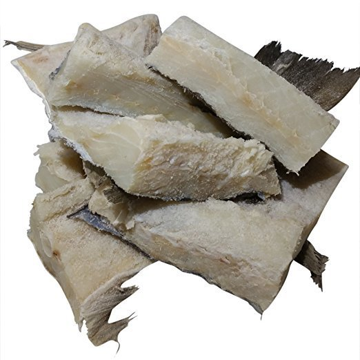 Bacalhau-Dry Salted Codfish with bone & skin from Norway 4 lbs