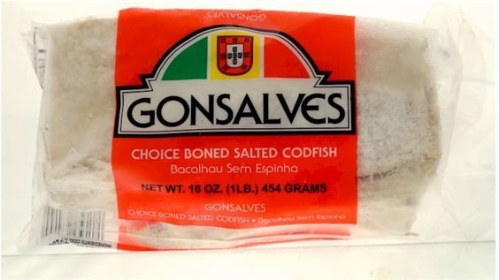 Bacalhau- Salted Boneless skinless Cod fillets 1lbs.