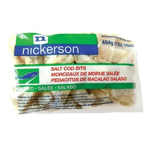 Nickerson Bacalhau pedacos- salted cod bits 454g