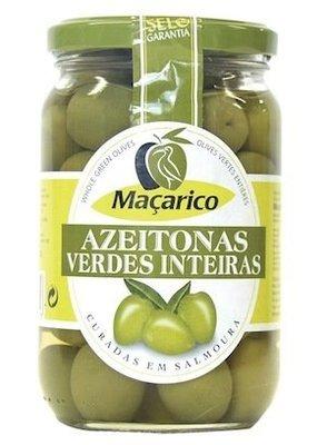 Macarico Azeitonas verdes inteiras- Whole green Olives 400g