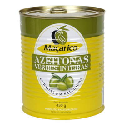 Macarico Azeitona Verde- Green Olives-850g 450g
