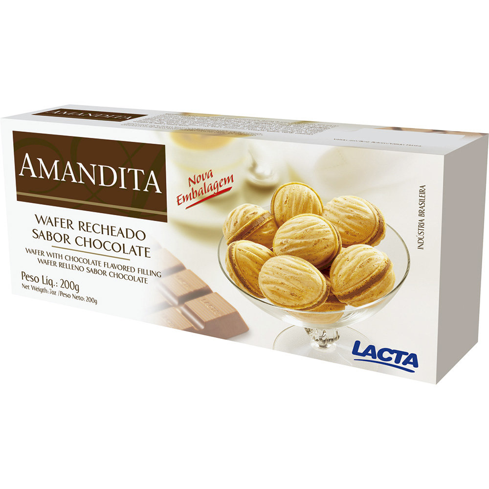 Lacta Amendita Wafer rocheado de chocolate 200g