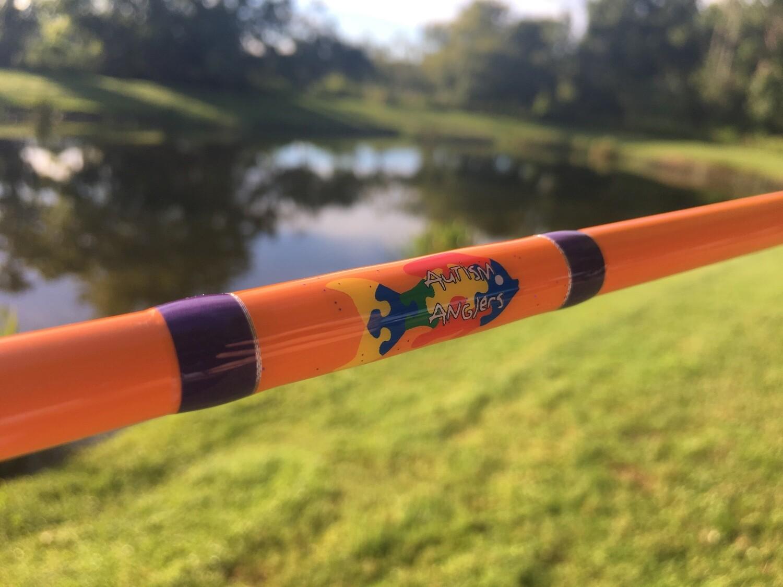 Autism Anglers fishing rod decal