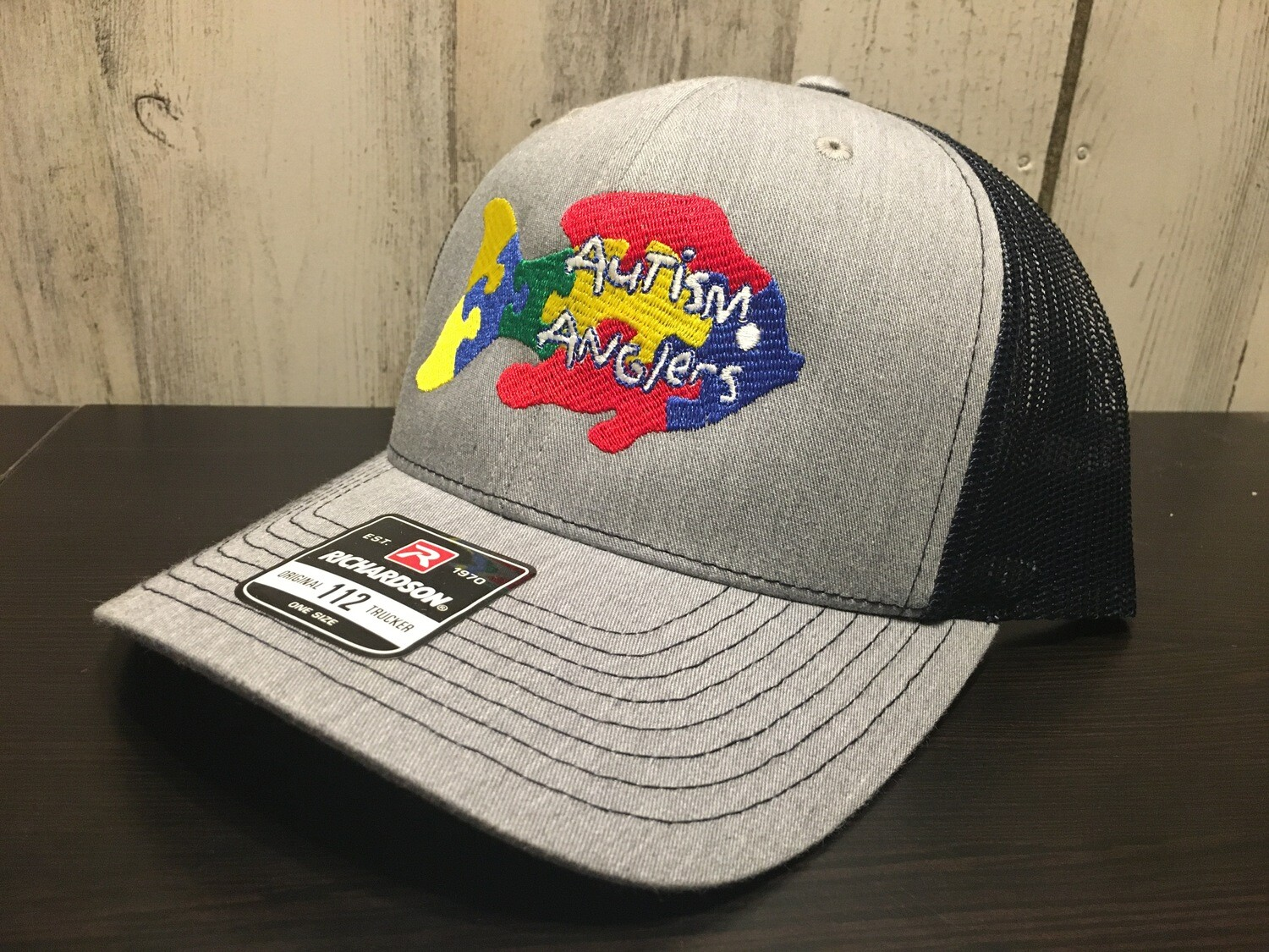 Autism Anglers Snap Back Hat-grey/Navy