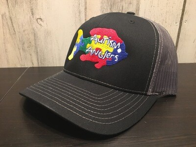 Autism Anglers Snap Back Hat-Black/Charcoal