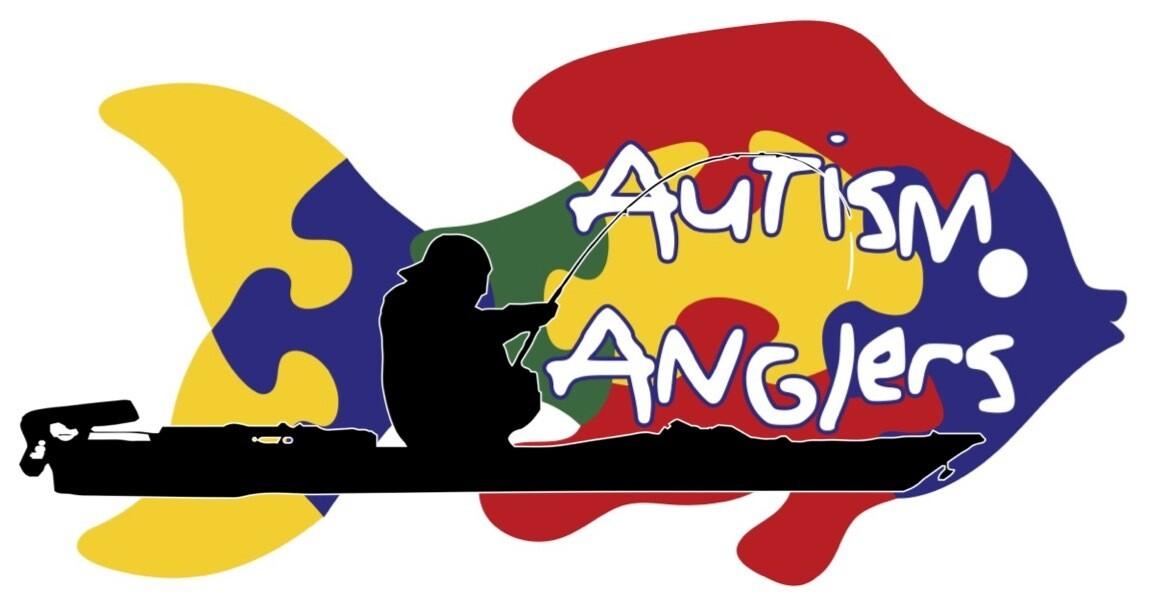 """8"""" Kayaker Autism Anglers Decal"""
