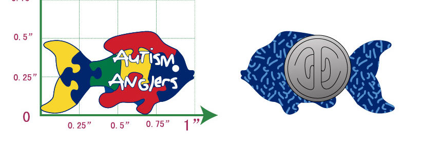 Autism Anglers Lapel Pin