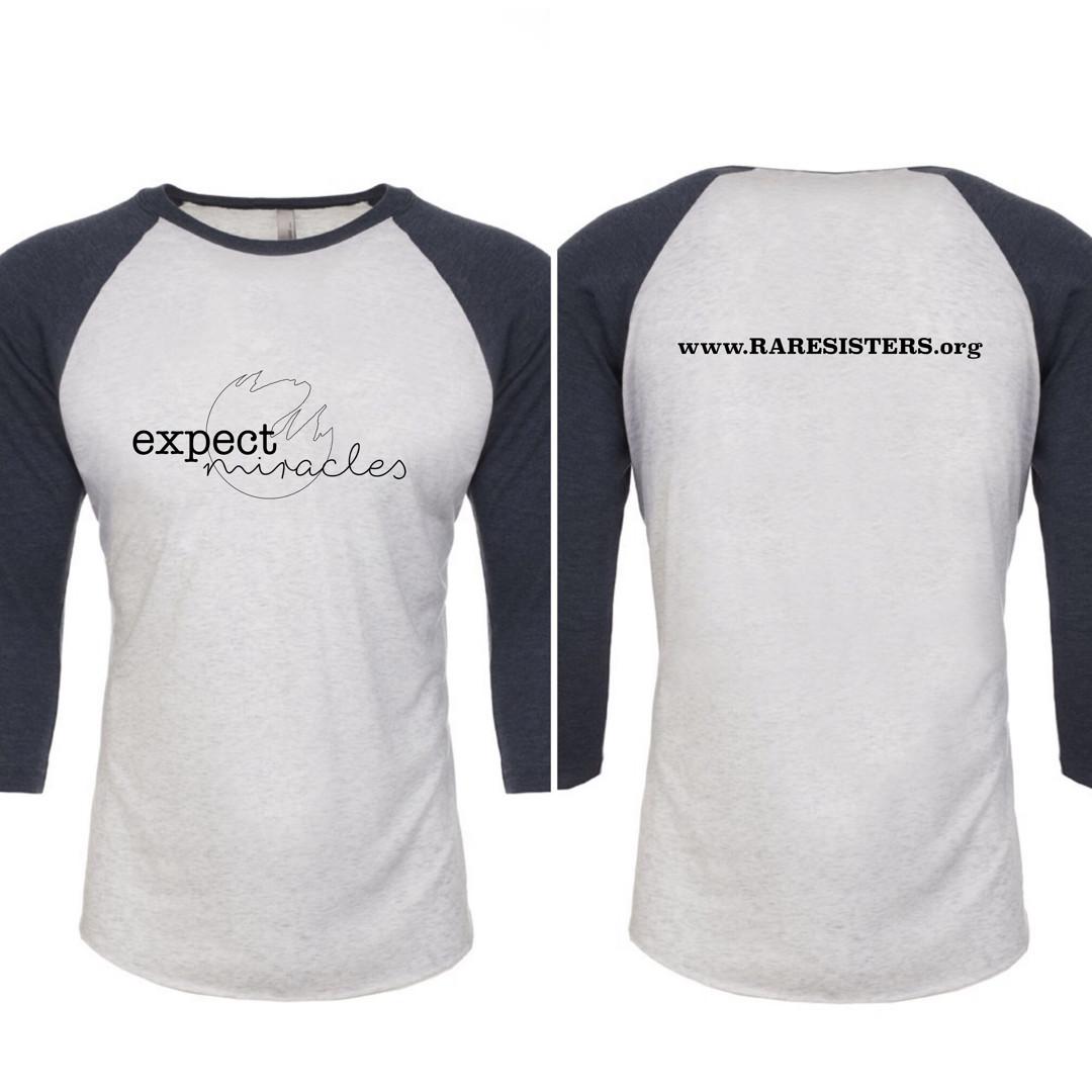 Adult Raglan 3/4 Sleeve Shirt- Expect Miracles