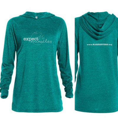 Adult Lightweight Teal Hoodie - Expect Miracles