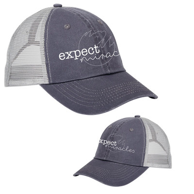 Charcoal Trucker Hat- Expect Miracles
