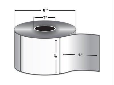 4x6 Thermal Transfer Labels (1,000 Labels per Roll, 4 Rolls per Case)