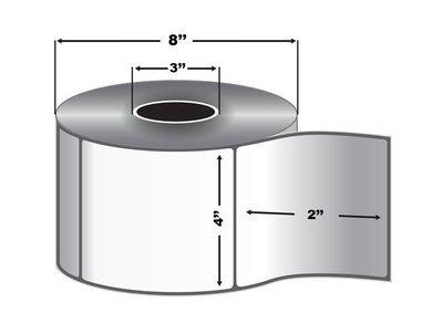 4x2 Direct Thermal Transfer Paper Labels (3,000 Labels per Roll, 4 Rolls per Case)