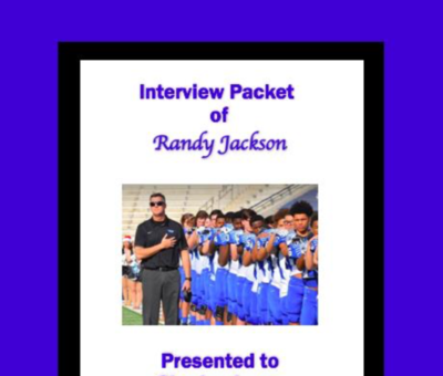 HEAD COACH INTERVIEW PACKET