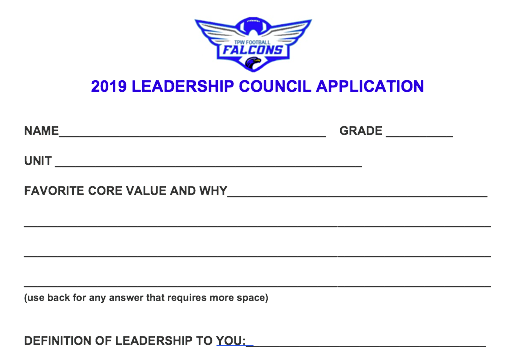 LEADERSHIP COUNCIL APPLICATION